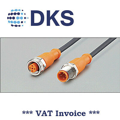 IFM EVC013 M12 Straight/Straight 4 Pin 2m PUR Sensor Extension Cable 000304