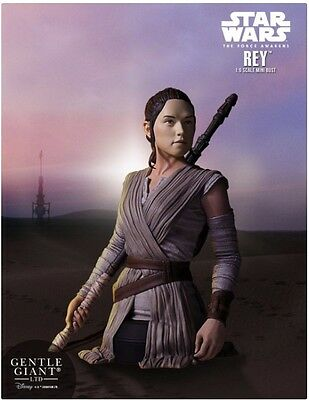 Star Wars Rey Mini Bust Ep VII The Force Awakens Gentle Giant Polyresin Limited