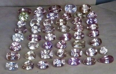 AAA+ Super Top Quality 700cts (50p) Natural Mix Kunzite gemstones NR $