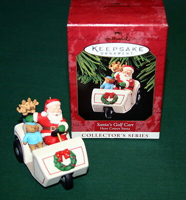 Hallmark 1999 Santa's Golf Cart # 21  In The Here Comes Santa Series