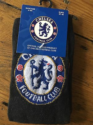 Chelsea Football Club Black Socks Shoe Size 4-6 Official Licensed Product BNWT