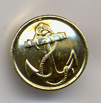 10 Big Official Uniform Buttons Ussr Russia Navy Crest Anchor Rim Gold Coloured