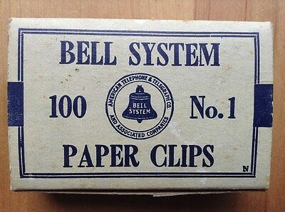 Vintage Bell System Paper Clips-No. 1-American Telephone & Telegraph Co.-1960's