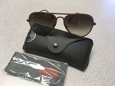 Ray-Ban 'LightRay' Lightweight Brown Sunglasses. New. Made in Italy. RB4211.