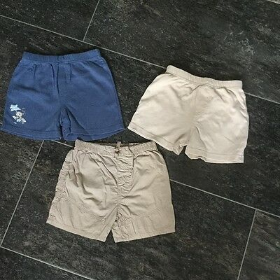 Baby Boys 3 pairs of Shorts Age 12-18 Months
