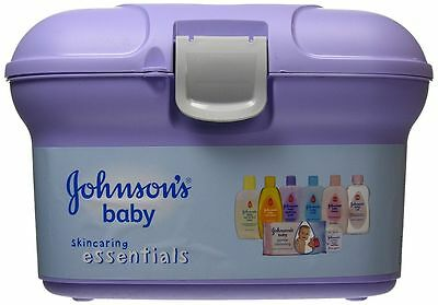 Johnsons Baby Essential Bathtime Gift Set All Skincare Products In Plastic Caddy