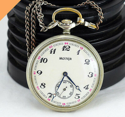 """MOLNIJA Pocket Watch """"Tale of the Urals"""" Cal. 3602 Vintage Watch Made in USSR"""