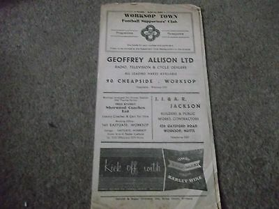 Vintage Worksop Town V North Shields Midland League 16Th April 1950S