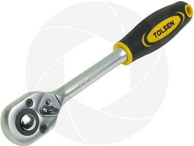 Quick Release Reversible Hand Socket Ratchet Wrench 1/2 Square Drive Shop Tool