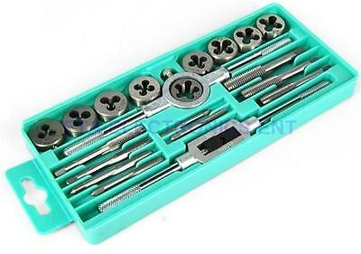 Professional 20 pcs Metric Tap and Die Wrench Set M3-M12 Hardene and Tapping bit