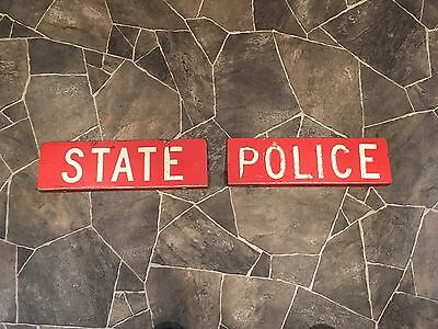 Connecticut State Police Light Rack Plaques-Circa 1970's