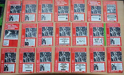 Liverpool FC Football Programmes 21 home games from the 1977-78 Season