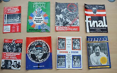 Liverpool FC Football Programmes Eight various from the 1970s