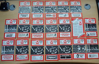 Liverpool FC Football Programmes 19 home games from the 1978-79 Season