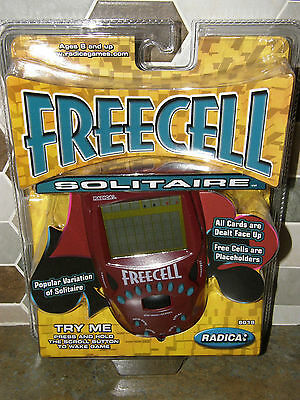 Freecell Solitaire NEW In Sealed Package Working Radica Free Cell Game Handheld