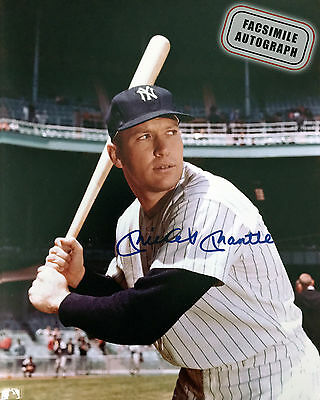 Facsimile Autographed Mickey Mantle- New York Yankees