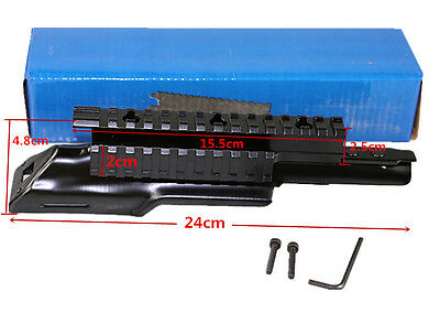Top Cover Scope Mount Receiver Triple 20mm Picatinny & Weaver Rail Top Mount Sys