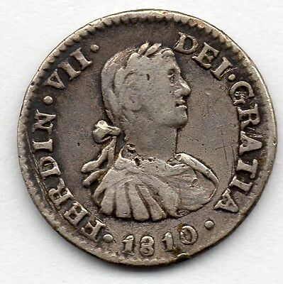 Mexico 1/2 Real 1810 MoHJ (89.6% Silver) Coin