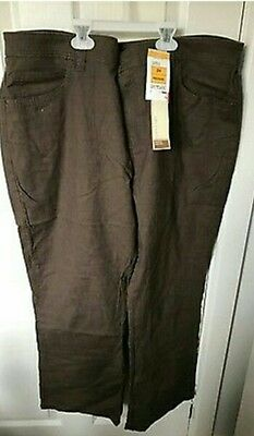 BNWT Marks & Spencer Chocolate Stretch Bootcut Jeans UK Size 24