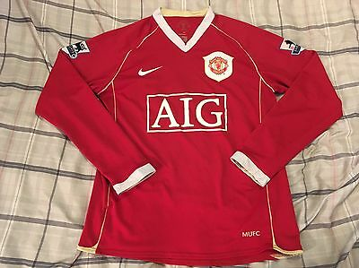 Vintage Nike Cristiano Ronaldo Manchester United Long Sleeve Soccer Jersey Small