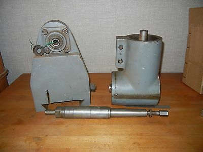 Bruke millrite Right Angle Milling Head Attachment W/ Arbor & Support