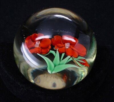 Orient & Flume Flower Glass Paperweight
