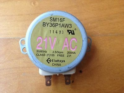 Microwave turntable motor 2.5/3 RPM SM16F BY36P1AW3