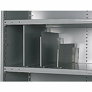 Cold Rolled Steel Vertical Shelf Divider,20 ga.,Gray,PK12, 5240-1212-12HG, Gray