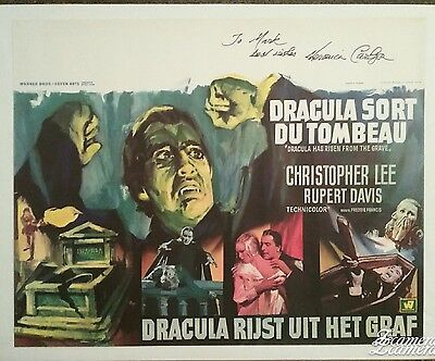 Dracula Has Risen From The Grave Rare Orig Belgium Poster Rolled Hammer Horror