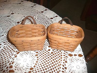 Lot of 2 Longabeger Ambrosia Booking Baskets 1 with Protector 1994