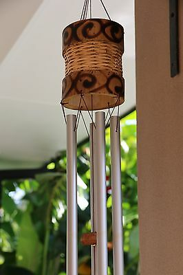 NEW Balinese Bamboo / Aluminium Wind Chime - GREAT Cathedral Sound - 2 Sizes