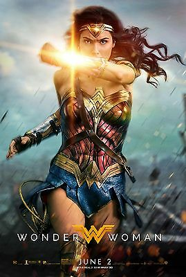 Wonder Woman Movie Poster (24x36) - Gal Gadot, Chris Pine v6