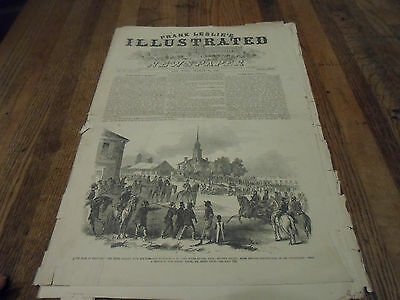 1862 CIVIL WAR Frank Leslie's Illustrated Newspaper War Pictures MORGAN'S RAID!!