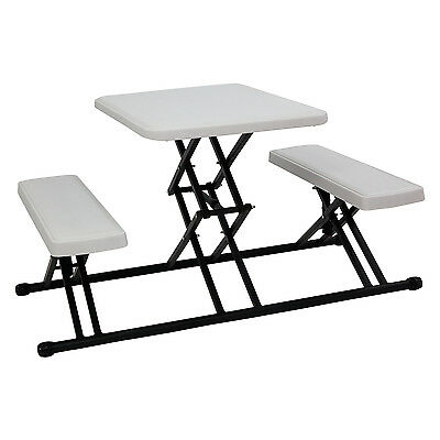 Kinbor Kids Portable Folding Table and Chairs Set Plastic Camping Picnic Lawn