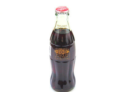 1995 Coca Cola Classic 100 Years of Olympic Tradition 8 oz Full Bottle