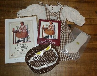 American Girl ADDY BIRTHDAY PINAFORE & SNOOD + BOOK 1st Edition Pleasant Company