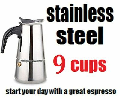 Stovetop Coffee Maker 4 6 Cup Stainless Steel Cuban Espresso Percolator Cafetera