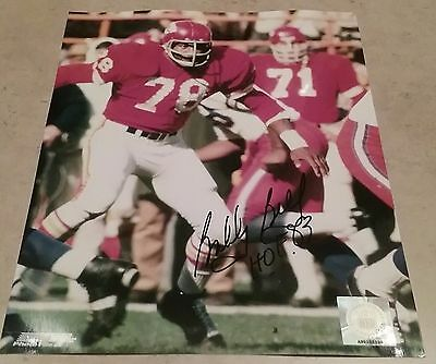NFL CHIEFS HOF BOBBY BELL AUTOGRAPHED SIGNED 8x10 FOOTBALL PHOTO COA JSA PSA