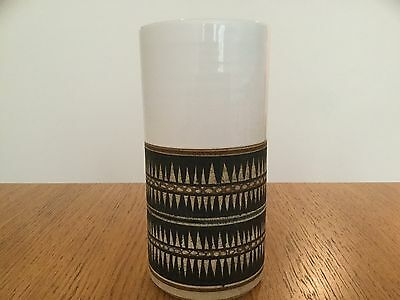 Superb Lovely Piece Of Authentic Troika Large White Cylinder Vase Immaculate! Mp