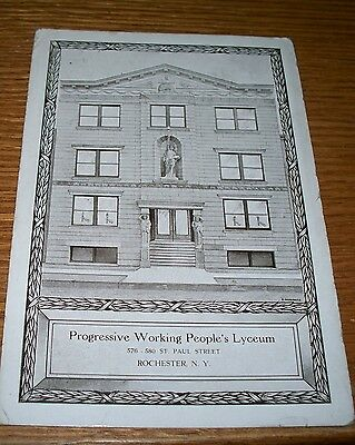 1915 Rare Progressive Working People's Lyceum Postcard Socialist Rochester Ny