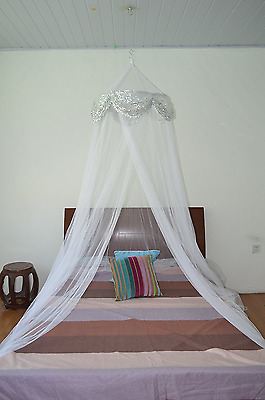 Sequins Bed Canopy Mosquito Net for All Size Bed, Dressing Room, Out Door Events
