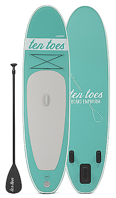 Ten Toes Boards Emporium Weekender Inflatable Stand up Paddle Board Bundle, SeaF