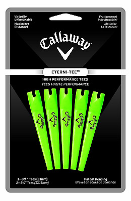 Callaway C10024 Eterni-Tees, 5 Count Large (3 1/4-Inch, Lime Green)