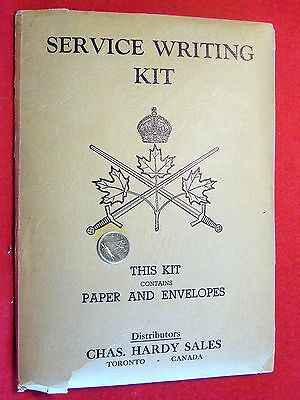 Original Canadian - WWII Canadian Army Provost Corps Writing Kit