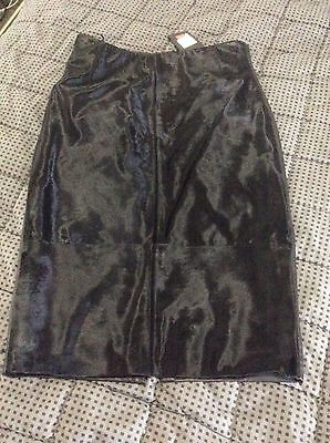 BNWT Country Road Ladies Black Leather Skirt size 12