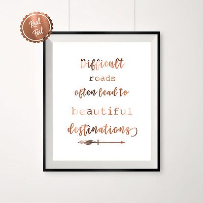 Copper print // Copper poster // wall art // inspirational // copper quote
