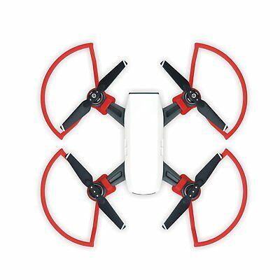 4x Red Propellers Protector Props Guard Blade Bumper For DJI Spark Quick Release