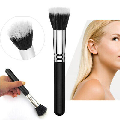 Makeup Cosmetic Duo Fiber Stippling Mineral Brush Blush Foundation Powder YU DB