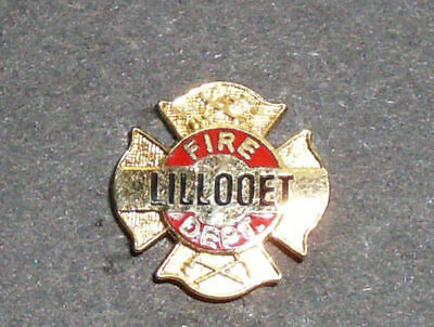 Lillooet BC Canada Fire Department Pin