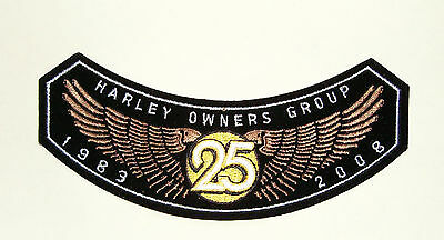 Harley Davidson Owners Group 25 Years 1983 - 2008 Patch